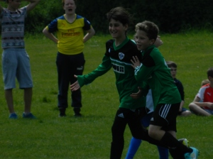 Thomas celebrates his equalising goal